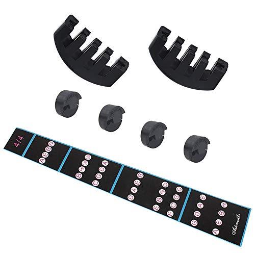 BLKykll Voor 4/4 Viool Beginner Onderdelen Accessoires, Viool Set Tool Vingerbord Fretboard Sticker + Ronde Muffler + Five-Claw Muffler