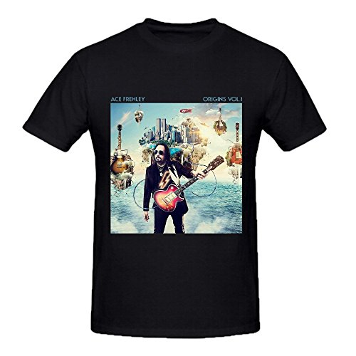 Ace Frehley Origins Vol 1 Herrens T Shirts Design Crew Neck Large