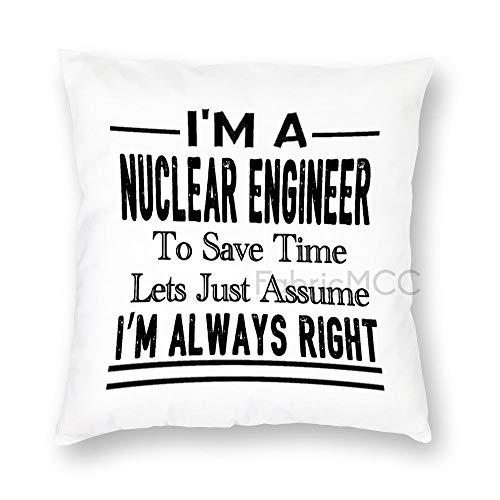 JamirtyRoy1 I'm a Chemist to Save Time Lets Just Assume I'm Always Right Funda de almohada, funda de cojín decorativa para sofá, dormitorio, coche, decoración del hogar, peluche corto, Cita-16, 22 x 22 Inch