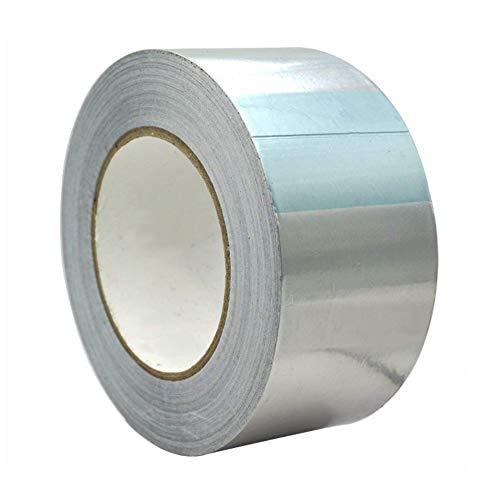 Aluminiumband Hitzebeständig Aluminiumklebebänder Aluband Selbstklebend Alu-Klebeband Aluminium Klebeband zum Abdichten oder Dämmen Thermoshield Hitzeschutzband, 60 mm x 50 m, silber