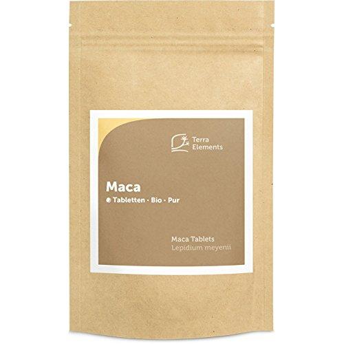 Terra Elements Bio Maca Tabletten (500 mg, 240 St) I Gelbe Maca-Wurzel aus Peru I 100{5957a9ccf3732dd201a36e1af06de567eec91ed098c6b723167fde368d6ff107} rein I Vegan I Rohkost