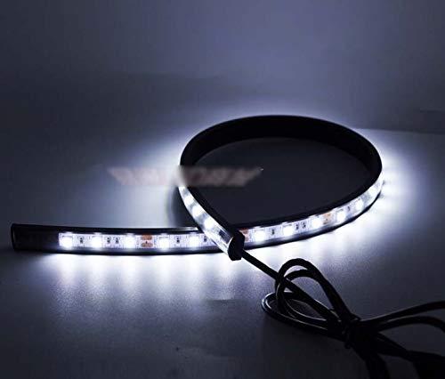 HSGZIS 50 cm / 100 cm Sequentielle LED-Streifen, Blinker, Umschaltanzeige, Tagfahrlicht, Ice Blue 50cm / 100 cm / 150 cm,White-0.5M