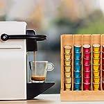 Relaxdays-Dispenser-Capsule-Cafissimo-Stand-Elegante-Porta-Cialde-in-bamb-Acrilico-HLP-29-x-245-x-12-cm-Naturale-bamb-Acrilico
