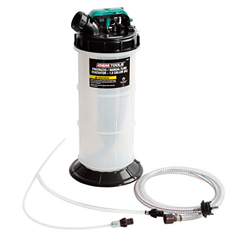OEMTOOLS 24937 6.0 Liter Pneumatic/Manual Fluid Extractor 1.5 Gallon (6L)   Convenient Oil Change & Fluid Change Tool   Easy-to-Use Hand Pump and Vacuum Pump Functions   No Leaks, No Overfills