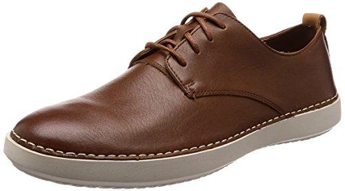 Clarks Komuter Walk, Zapatos de Cordones Derby Hombre, Marrón (British Tan-), 40 EU