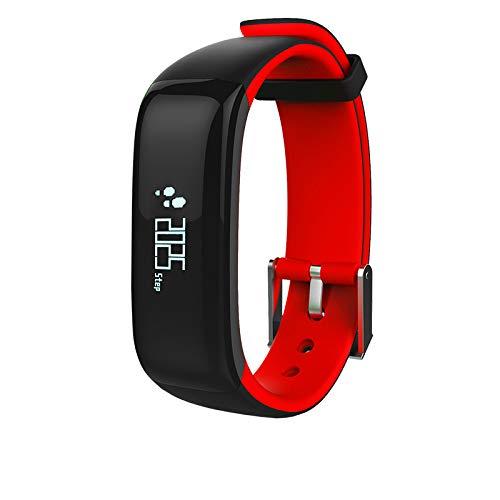 YWXG Fitness Armband Herzfrequenz Smart Armband Uhr IP68 Wasserdicht Sport Fitness Tracker Pulsmesser mit Schrittzähler,Kalorienzähler,Vibrationsalarm,Whatsapp SMS Beachten Multi-Sport-Tracker