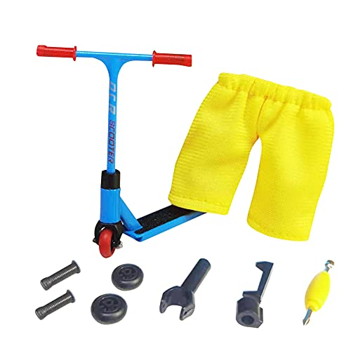 BYNYXI Mini juego de juguete de dedo, monopatines de dedos, juego de modelos de juguete, accesorios de entrenamiento y movimiento de dedos juegos con accesorios de skate para niños