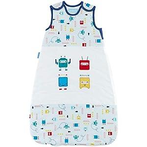 Grobag Saco de dormir para bebé de 0 a 6 meses, diseño de insectos espaciales de 2,5 tog, 100% algodón, con cremallera…
