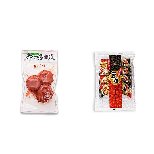 [2点セット] 赤かぶ丸漬け(150g)・飛騨銘菓「打保屋」の駄菓子 豆板(8枚入)