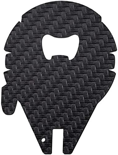 Star Wars Millennium Falke, apribottiglie in fibra di carbonio, idea regalo per fan e collezionisti, colore: nero