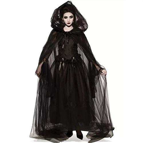 SHANGXIAN Halloween Vampiro Sexy Disfraz Mujer Fiesta de mascaras gótico Cosplay de Demon Dark Messenger Vestidos,XL