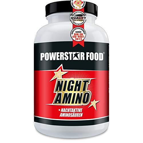 NIGHT AMINO | HOCHDOSIERT | Nachtaminosäuren L-ARGININ, L-ORNITHIN & L-LYSIN in freier kristalliner Form + Vitaminkomplex | 180 Kapseln | MADE IN GERMANY