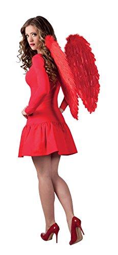 Boland 52811 - Engelsflügel, Circa 65 x 65 cm, Einheitsgröße, rot