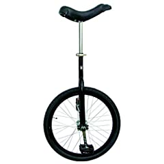 "Ideal for the first time unicyclist or the regular rider 16"" available in chrome or red, 20"" available in chrome, red, black, blue, or yellow, 24"" available in chrome Cartridge bearings for smooth pedaling Quick release seat post clamp with comfortab..."