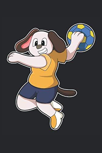 Handball Notizbuch, 120 Seiten: Hund - Handball Notizbuch - Tagebuch für Frauen, Männer und Kinder - Punktraster