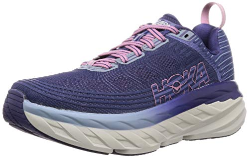 HOKA ONE ONE Womens Bondi 6 Marlin/Blue Ribbon Running Shoe - 9.5