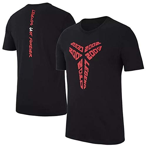 Dybory Camiseta Negra Mamba Kobe para Hombre, Manga Corta De Baloncesto Kobe Bryant De Los Angeles Lakers, Camiseta Conmemorativa,Negro,XL