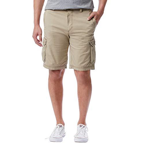 UNIONBAY Montego Mens Cargo Shorts for Comfort Stretch (38, Grain)