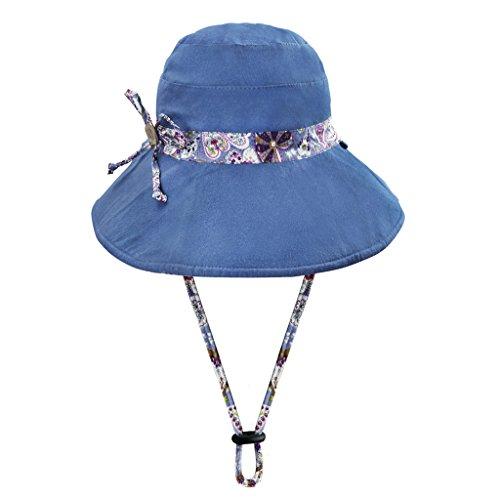 YJZQ Capeline Femme Fille Chapeau de Soleil Casquette Visière Chapeau Pliable Chapeau de Seau Large Bord Protection Solaire et Pluie Bonnet Voyage