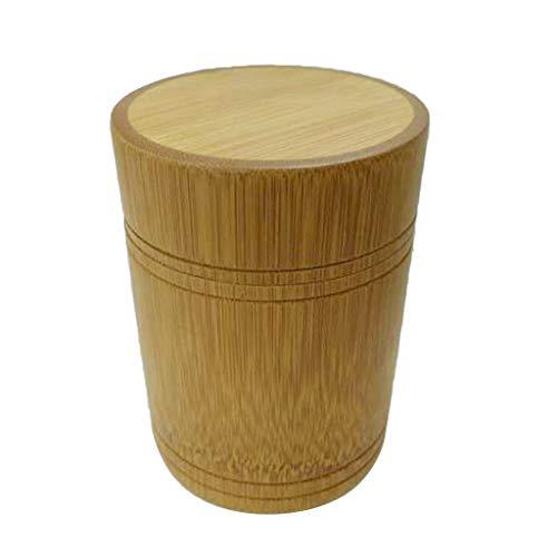 MagiDeal Bambus Holz Vorratsdosen Zuckerdose Teedose Kaffeedose Dose mit Deckel für Tee Kaffee Gewürz - B