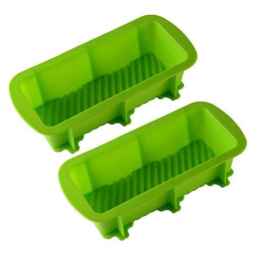 Moldes De Hornear Pan De Silicona, Antiadherente DIY Bandeja Para Horno Sin BPA, Calentamiento Rápido Y Uniforme, Para Pasteles Caseros, Pan, Quiches (Verde)