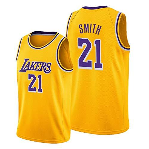 Haoshangzh55 Camiseta de baloncesto 2021/L.A. Lakers # 21 JR Smith Finals de baloncesto Uniforme de entrenamiento de deportes y ocio de secado rápido y transpirable chaleco sin mangas, 3XL