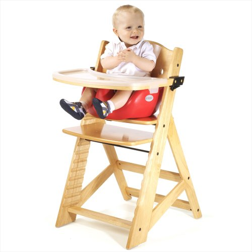 Keekaroo Height Right High Chair, Infant Insert and Tray Combo, Natural/Cherry, ONE Size (0051401KR-0002)