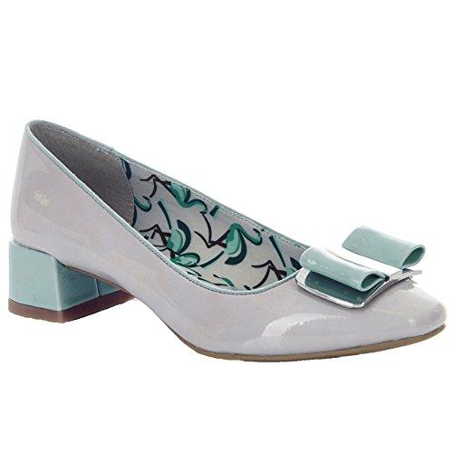 Ruby Shoo Ladies June Stone and Mint Patent Bow Pump Vegan Friendly Shoes-UK 3 (EU 36)
