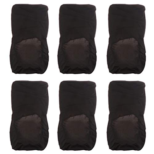 LOVIVER 6pcs Dining Chair Covers High Back Stretch Elastic Covering Mat for Dining Room Wedding Banquet Party All Occasions Black