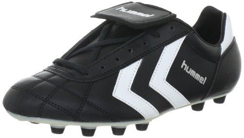 hummel Old School Fgc Synthetic 61-085-2560, Unisex - Erwachsene Sportschuhe - Fußball, Schwarz (Black/White/Vanilla Custard 2560), EU 45 (UK 10.5)