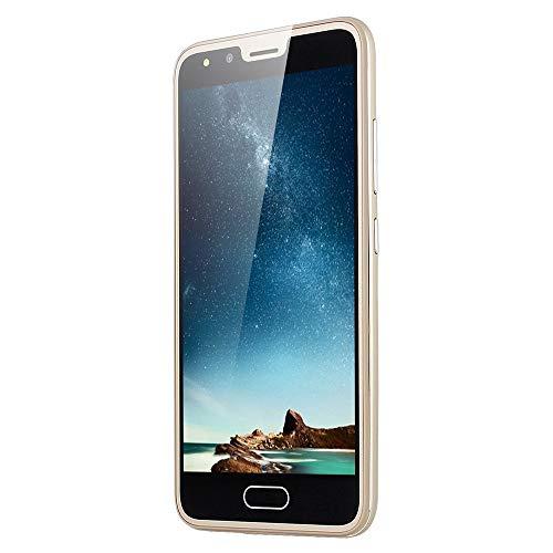 Smartphone desbloqueado, 3G P20 de 5,0 pulgadas, cámara dual HD, Android 512 MB de RAM + 4 GB de ROM, Dual SIM, pantalla táctil, color dorado