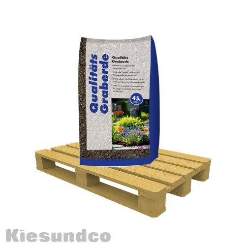 Qualitäts-Graberde 45 l Sack dekorative Garten- und Grabgestaltung 25kg
