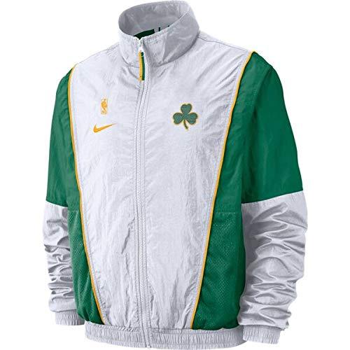 Nike New Men's Boston Celtics Courtside Tracksuit Jacket White/Green Sz Small