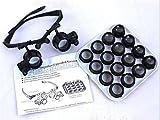 Lupa digital de mano, Lupa, Auriculares Gafas de ocho conjuntos de vidrios de la lente de aumento reparación del reloj de la lupa Set versión de actualización Pasatiempos, lectura, lupa de joyería, ma