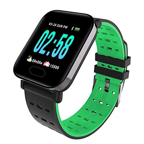 LUWEI Smart Watch Fitness Watch, Monitor de Actividad física con Monitor de frecuencia cardíaca, Monitor de Actividad GPS a Prueba de Agua IP68, Contador de Pasos, Monitor de sueño, Cronómetro,Verde