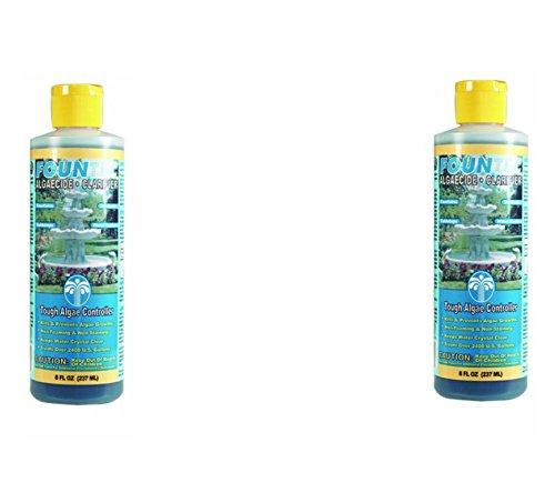 EasyCare FounTec Algaecide and Clarifier, 8 oz. Bottles (Pack of 2)