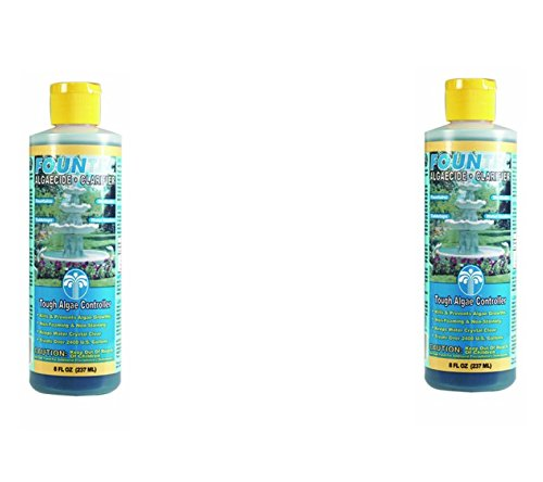 EasyCare FounTec Algaecide and Clarifier, 8 oz. Bottles (Pack of 2)