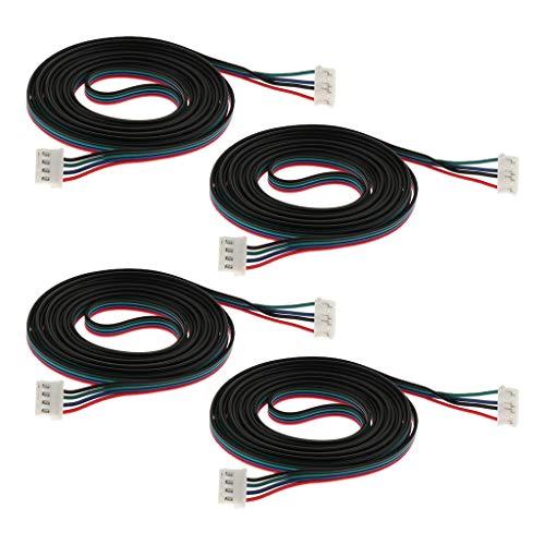 Almencla 4 Stücke 3D Drucker Schrittmotor Erweiterte Kabel Stecker Xh2.54 2 Meter