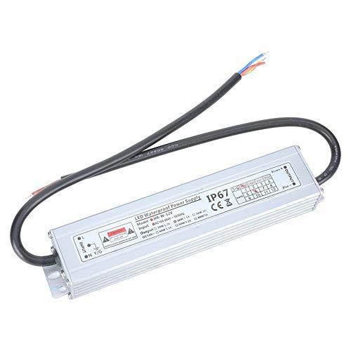 Netzteil, IP67 wasserdicht 100-264VAC bis 12VDC LED-Schaltnetzteil 2.5A 30W für LED-Leuchten mit Lichtleisten, Geländerrohren, Wandfluter, Linienleuchten usw.