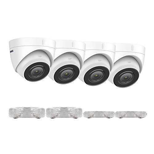 ANNKE C800 - Cámara IP de vigilancia (4 unidades, 4 K/8 MP, HD, visión nocturna, detector de movimiento, compatible con Onvif, sistema de vigilancia PoE o NVR