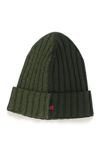 WOOLRICH Cappello a Costa Inglese Mouline' Beanie Hat Verde Lana Vergine Uomo M