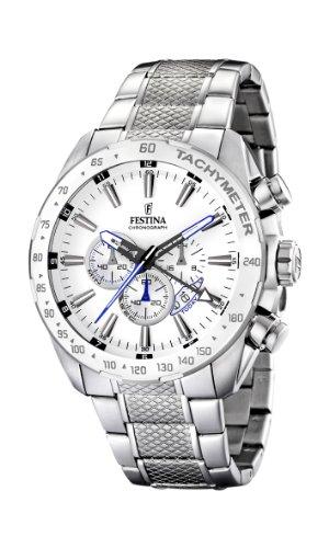 Festina Herren Chronograph Quarz Uhr mit Edelstahl Armband F16488/1