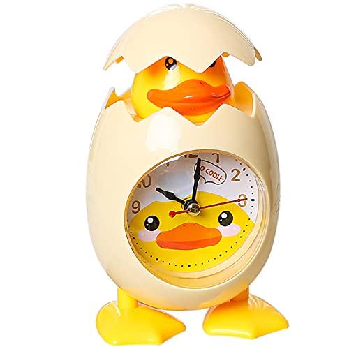 Wekker cartoon schattige ei shell vorm klok creatieve slaapkamer nachtkastje decoratie kinderen gift _1 st (geel)