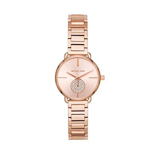 Michael Kors Damen Analog Quarz Uhr mit Edelstahl Armband MK3839