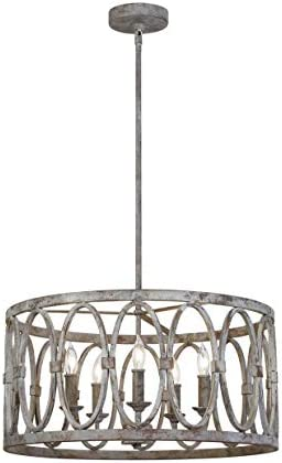 Feiss F3222 5DA Patrice Outdoor Candle Drum Chandelier Lighting 5 Light 300 Watts 21 D x 11 product image