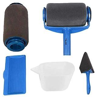 scheda rullo per pittura con serbatoio professionale, rottay 5 set di kit rulli per pittura, blu [2020 upgraded]
