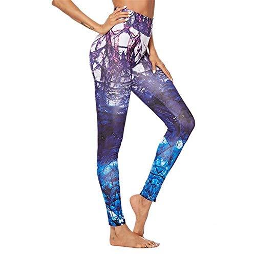 Koupany Dames Yoga Legging Dunne Hoge Taille Fitness Print Legging Ademende Vrouw Yoga Broek Panty Elastische Legging