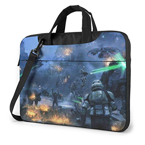 HFHY 15.6 inch Star War Laptop Bag Waterproof Shockproof Double Zipper Protective Case One Shoulder Messenger Laptop Bags with Handle for Women and Men Satchel Tablet Carrying Sleeve