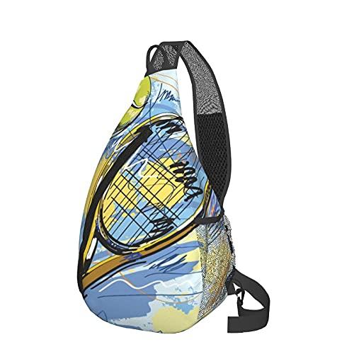 485 Crossbody Bag Raqueta De Tenis Sling Bolsa Moda Bandoleras Cruzada Uso Diario Bolsos Cruzado Por Hombre Mujeres Escuela 25X39Cm
