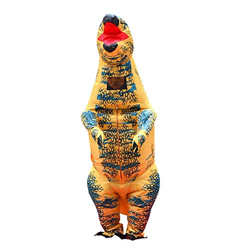 LJLis Disfraz Inflable Inflatable Dinosaur Costume Tyrannosaurus Rex Disfraz Hinchable Ideal para Cosplay Niños